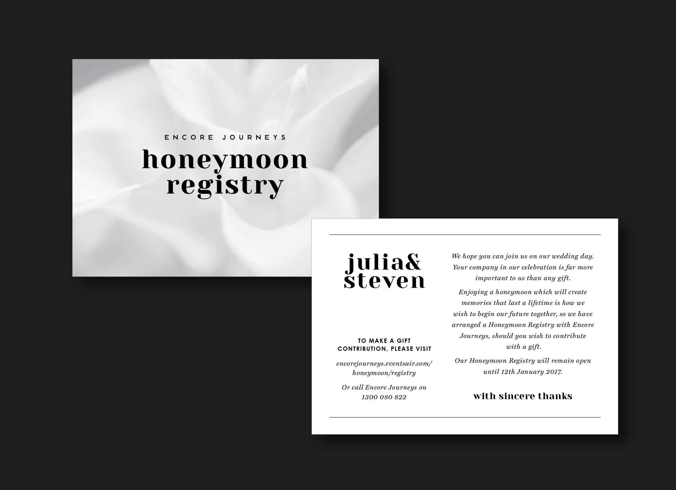Honeymoon Registry Cards